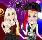 Halloween vestir Elsa e amiga