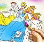Pintar livro das princesas