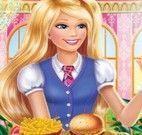 Princesa Barbie fazer hambúrguer