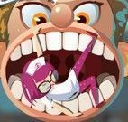 Tratamento dos dentes do garoto