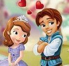 Beijos da princesa Sofia e namorado