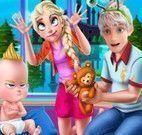 Elsa decorar casa da família