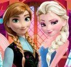 Elsa e Anna comprar roupas