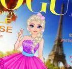 Maquiagem e roupas Elsa capa de revista