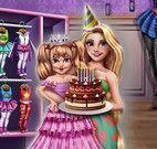 Rapunzel e filha roupas de aniversário