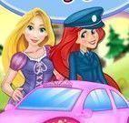 Vestir Rapunzel para teste drive