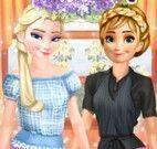 Anna e Elsa roupas de trabalhar