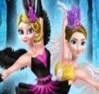 Apresentação de balé Anna e Elsa