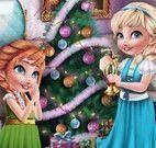Árvore de natal da Anna e Elsa bebê