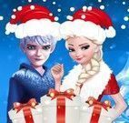 Elsa e Jack roupas de natal
