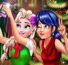 Elsa e Ladybug selfie natal