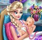 Elsa mamãe parto