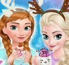 Frozen pijamas e chocolate quente
