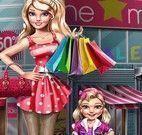 Mãe e filha compras