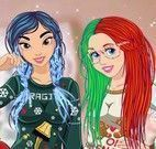 Princesas roupas da neve