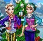 Roupas da neve Anna e Elsa