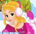 Vestir Rapunzel e decorar trenó