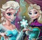 Elsa achar objetos da coroa