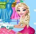 Elsa costureira de vestido