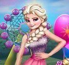 Elsa Frozen roupas no parque