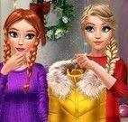 Irmãs Frozen roupas de frio