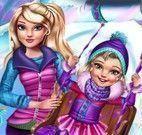 Mãe e filha roupas de inverno