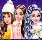 Roupas de patinar das princesas
