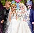 Elsa e Anna Frozen casar