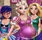 Elsa grávida no shopping