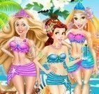 Moda praia princesas fashion
