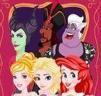 Princesas e vilãs roupas e caretas