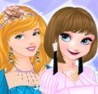 Princesas roupas de origami