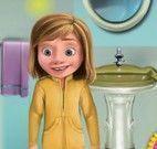 Riley lavar banheiro