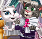Casamento gatos Tom e Angela