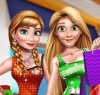 Frozen e Rapunzel no shopping