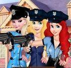 Princesas roupas de polícia