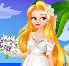 Rapunzel noiva no Hawai