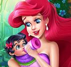Ariel cuidar da bebê