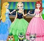 Princesa e animais roupas