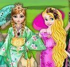 Princesas vestir kimono