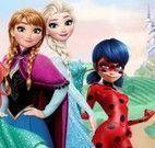 Livro de colorir princesas e Ladybug