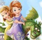 Princesa Sofia quebra cabeça com dragão