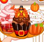 Cupcakes Ação de Graças