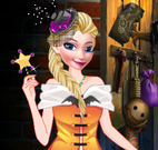 Elsa e Anna na festa do Halloween