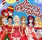 Cartão de natal das princesas