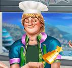 Kristoff fazer bolo