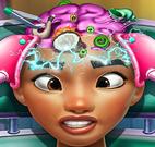 Princesa Moana cuidar da cabeça