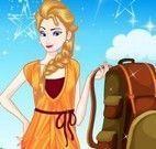 Vestir Elsa para acampar