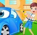 Lavar carro com crianças