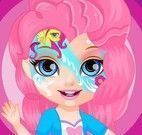 Bebê Barbie máscara My Little Pony